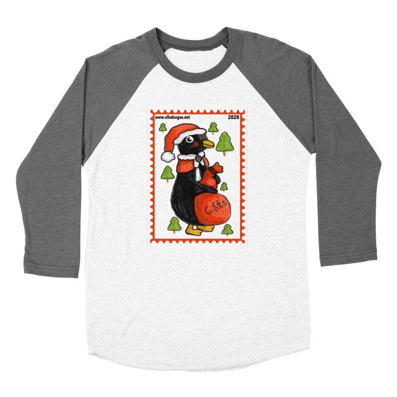 Postage Santa Penguin Women's Longsleeve T-Shirt by elledeegee's Artist Shop