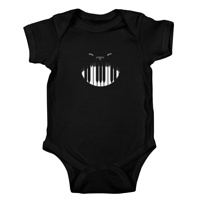 Piano Beast Kids Baby Bodysuit by elledeegee's Artist Shop