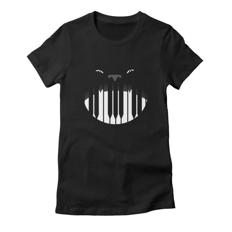 Piano Beast Women's T-Shirt by elledeegee's Artist Shop