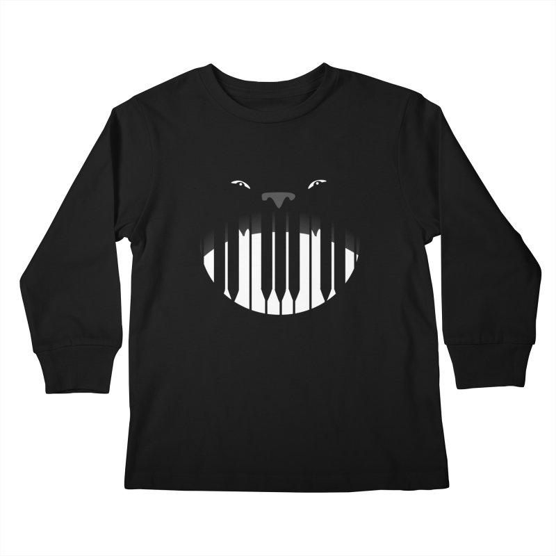 Piano Beast Kids Longsleeve T-Shirt by elledeegee's Artist Shop