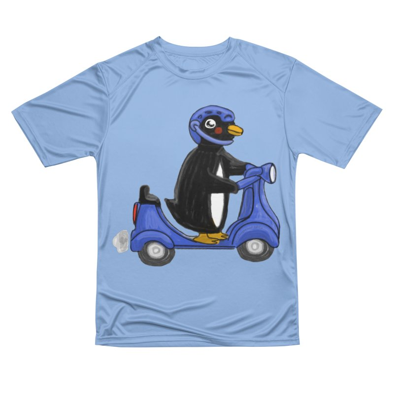 Scooting Penguin Men's T-Shirt by elledeegee's Artist Shop