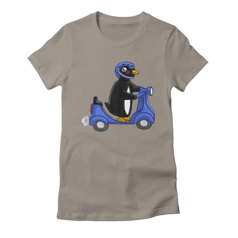 Scooting Penguin Women's T-Shirt by elledeegee's Artist Shop