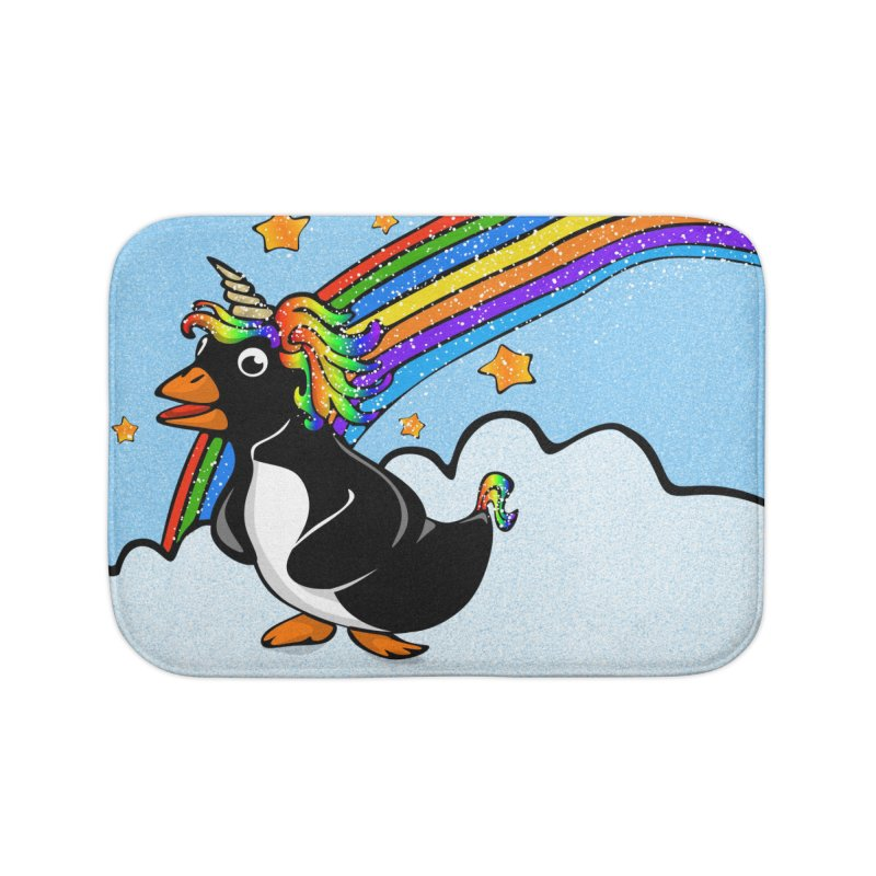 Pengicorn Home Bath Mat by elledeegee's Artist Shop