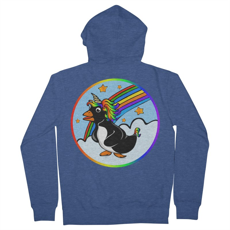 Pengicorn Men's Zip-Up Hoody by elledeegee's Artist Shop