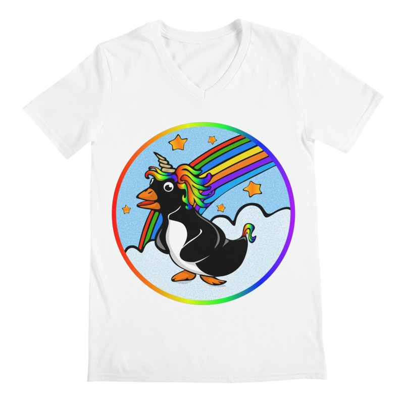 Pengicorn Men's V-Neck by elledeegee's Artist Shop