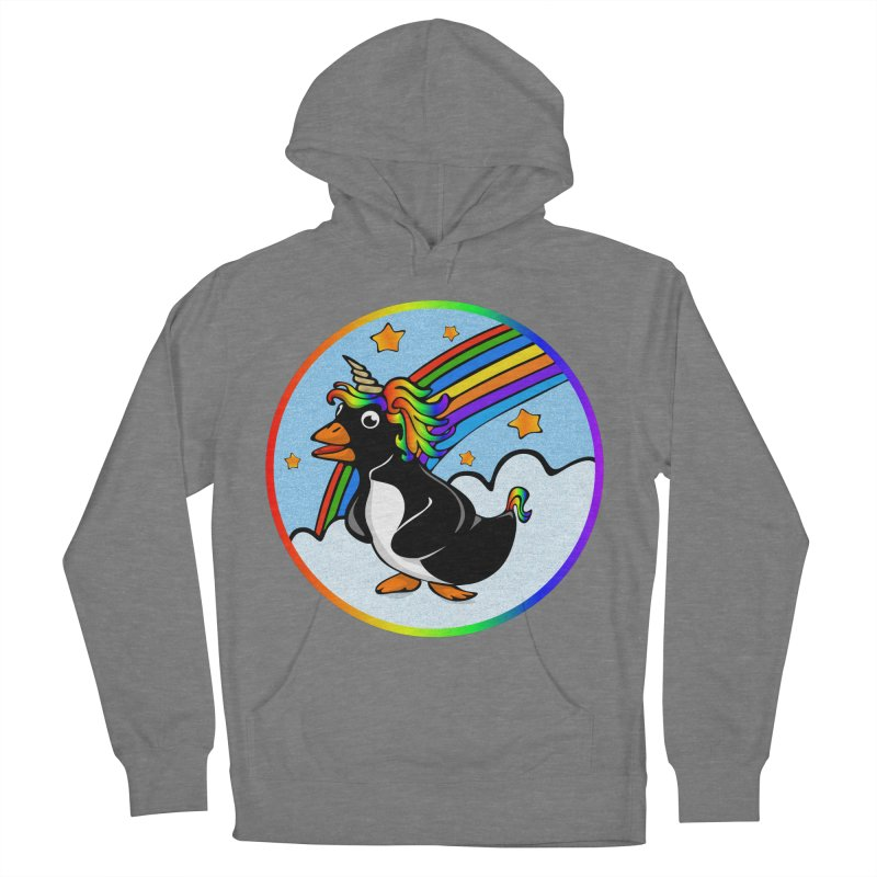Pengicorn Women's French Terry Pullover Hoody by elledeegee's Artist Shop