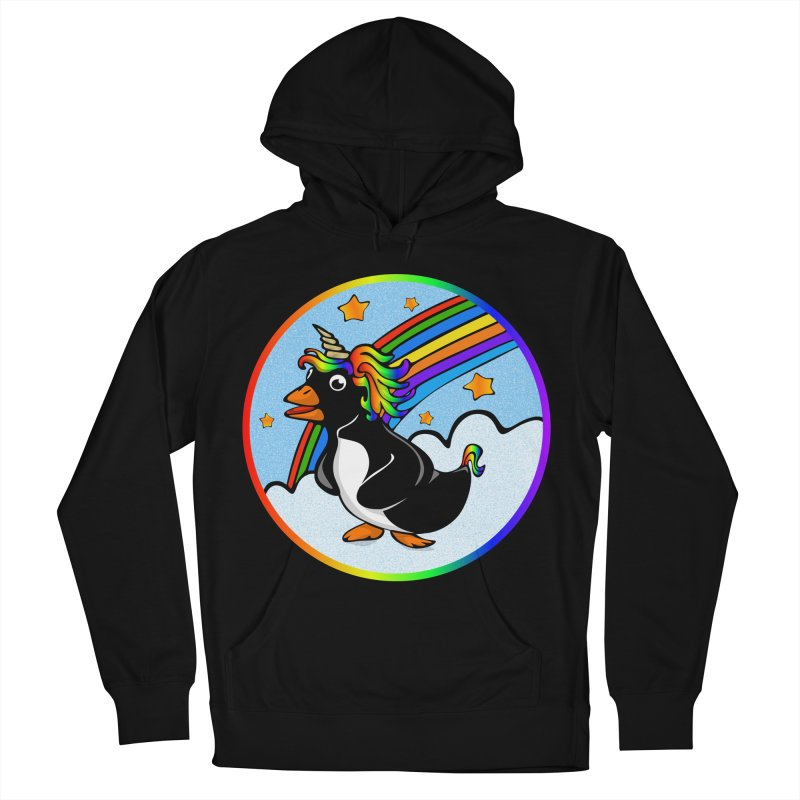 Pengicorn Men's French Terry Pullover Hoody by elledeegee's Artist Shop