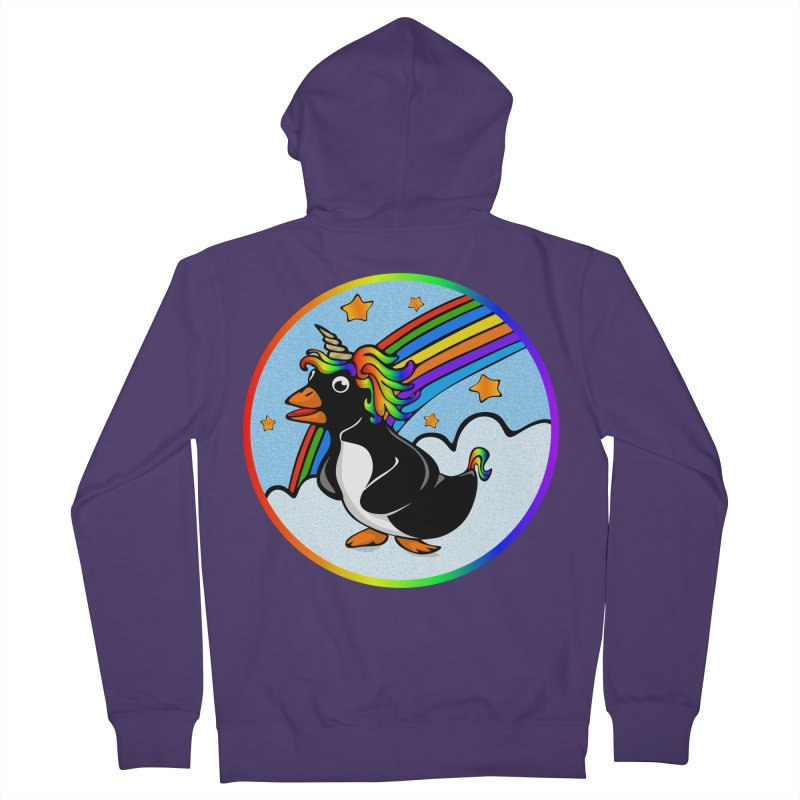 Pengicorn Women's Zip-Up Hoody by elledeegee's Artist Shop