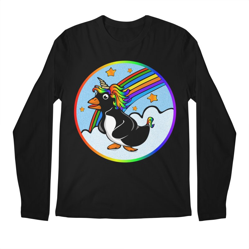 Pengicorn Men's Regular Longsleeve T-Shirt by elledeegee's Artist Shop