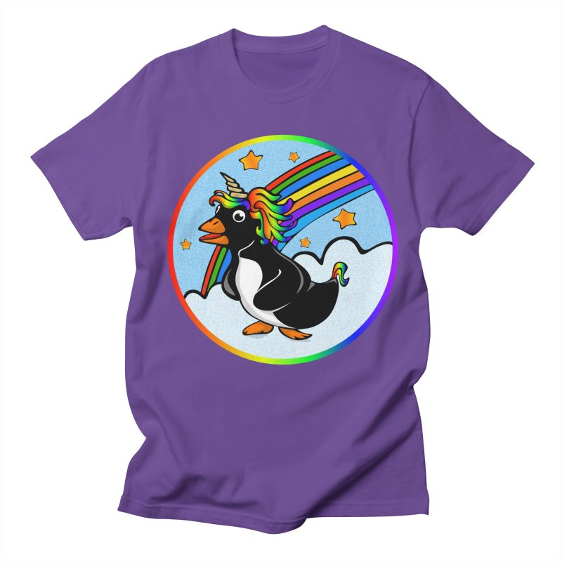 Pengicorn in Men's Regular T-Shirt Purple by elledeegee's Artist Shop