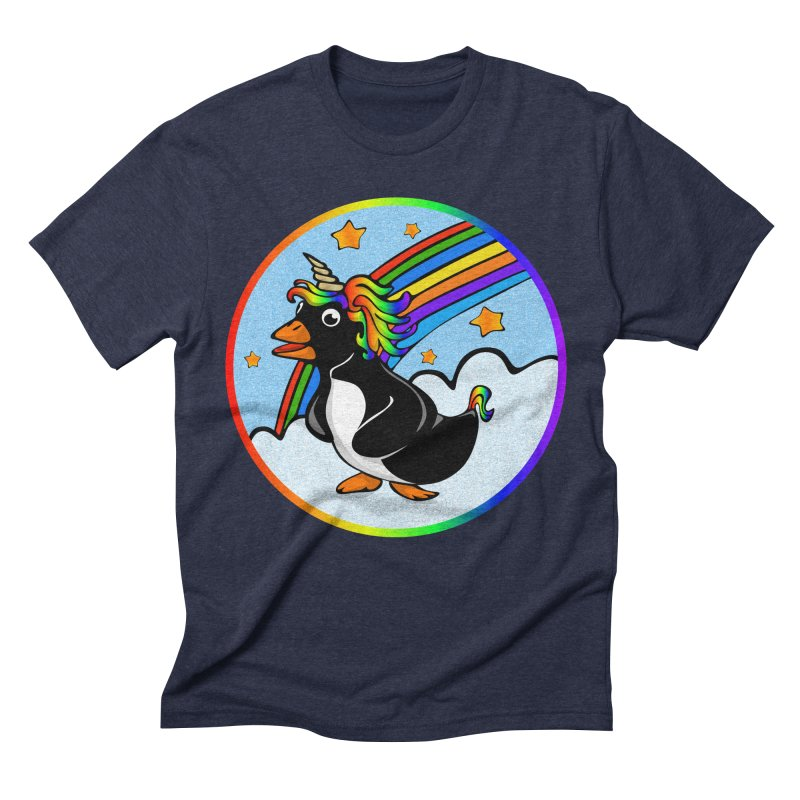 Pengicorn Men's Triblend T-shirt by elledeegee's Artist Shop
