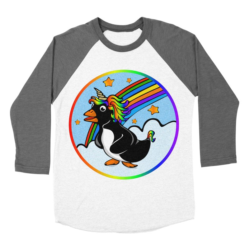 Pengicorn Women's Baseball Triblend Longsleeve T-Shirt by elledeegee's Artist Shop