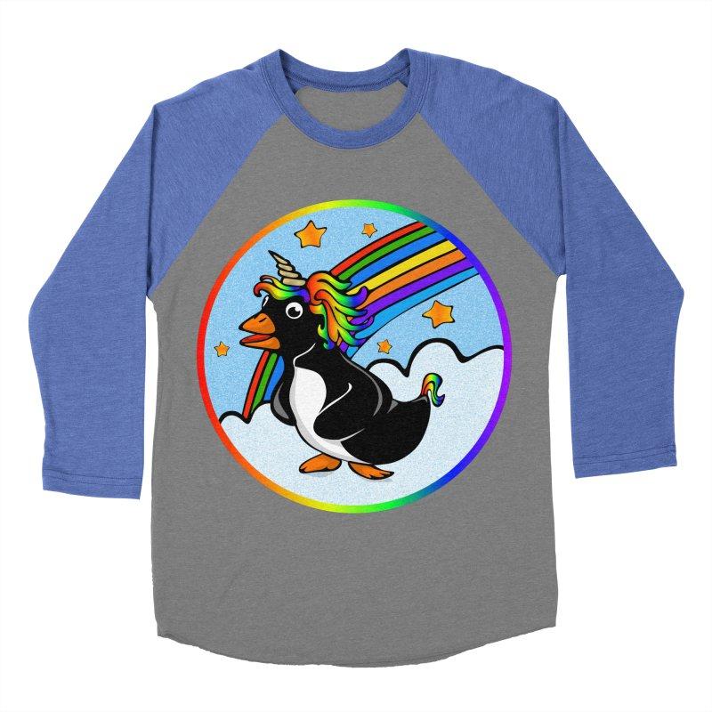 Pengicorn Women's Baseball Triblend Longsleeve T-Shirt by elledeegee's Artist Shop