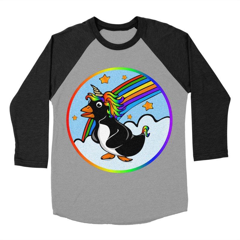 Pengicorn Women's Baseball Triblend T-Shirt by elledeegee's Artist Shop