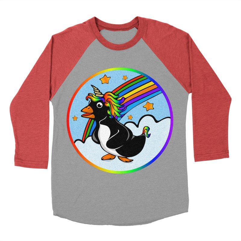 Pengicorn Men's Baseball Triblend Longsleeve T-Shirt by elledeegee's Artist Shop