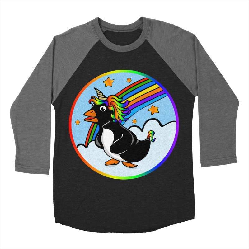 Pengicorn Men's Baseball Triblend Longsleeve T-Shirt by elledeegee's Artist Shop