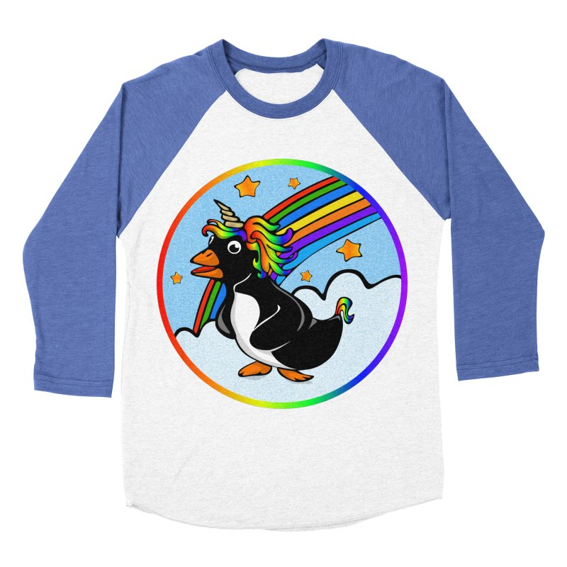 Pengicorn Men's Baseball Triblend T-Shirt by elledeegee's Artist Shop