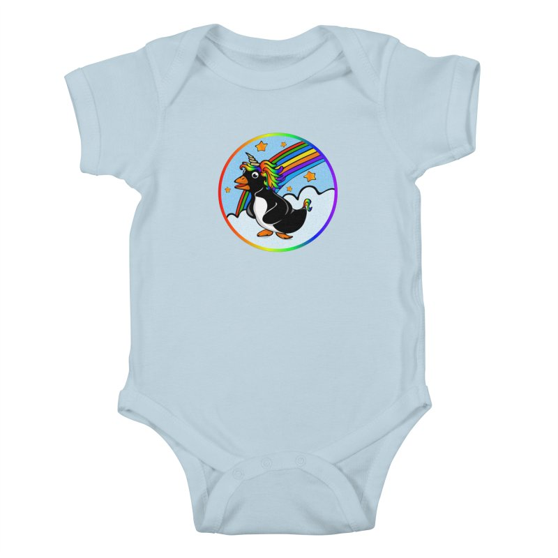 Pengicorn Kids Baby Bodysuit by elledeegee's Artist Shop