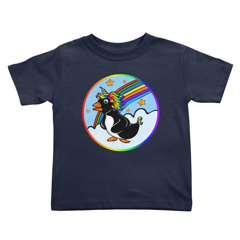 Pengicorn Kids Toddler T-Shirt by elledeegee's Artist Shop