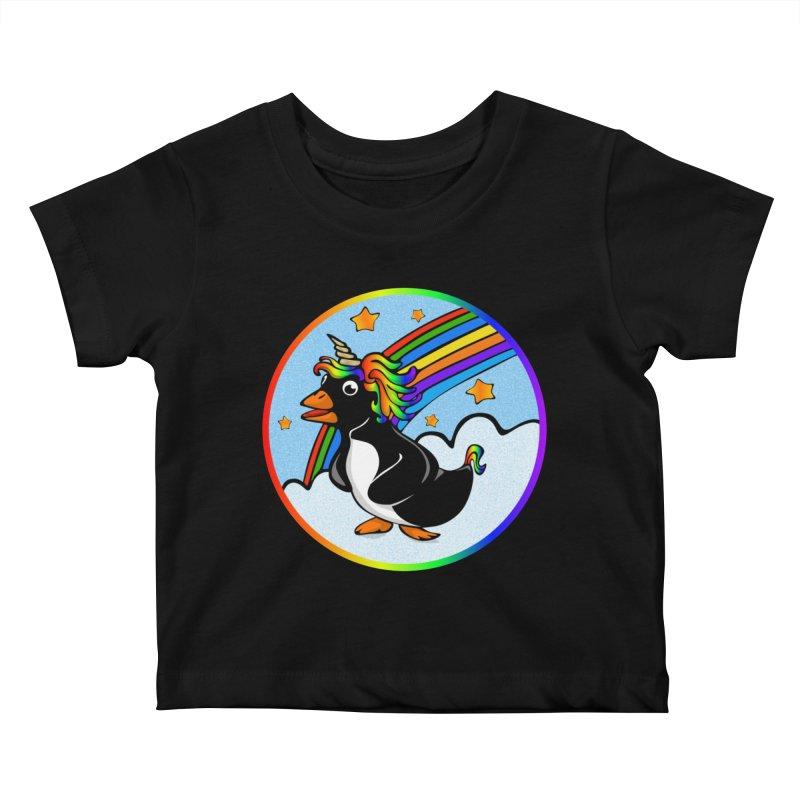 Pengicorn Kids Baby T-Shirt by elledeegee's Artist Shop