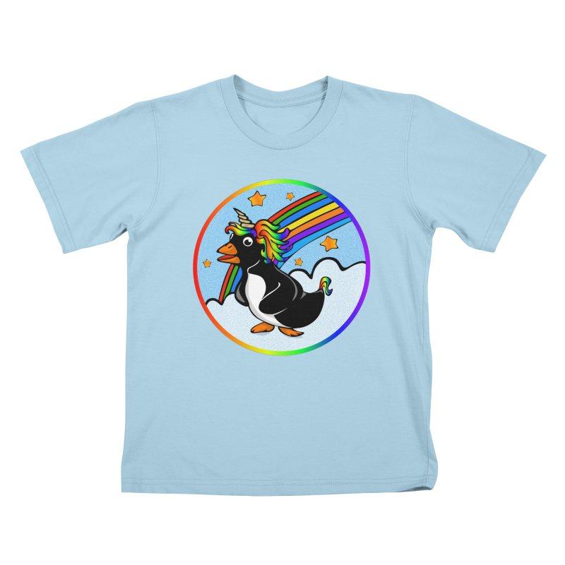 Pengicorn Kids T-Shirt by elledeegee's Artist Shop