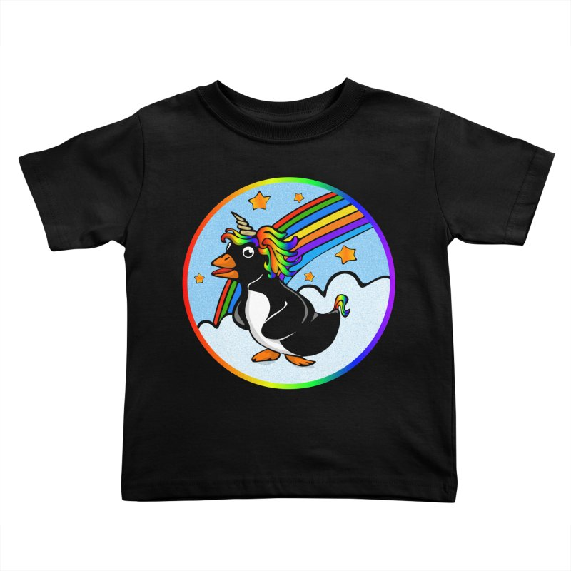 Pengicorn Kids Toddler T-Shirt by elledeegee's Artist Shop