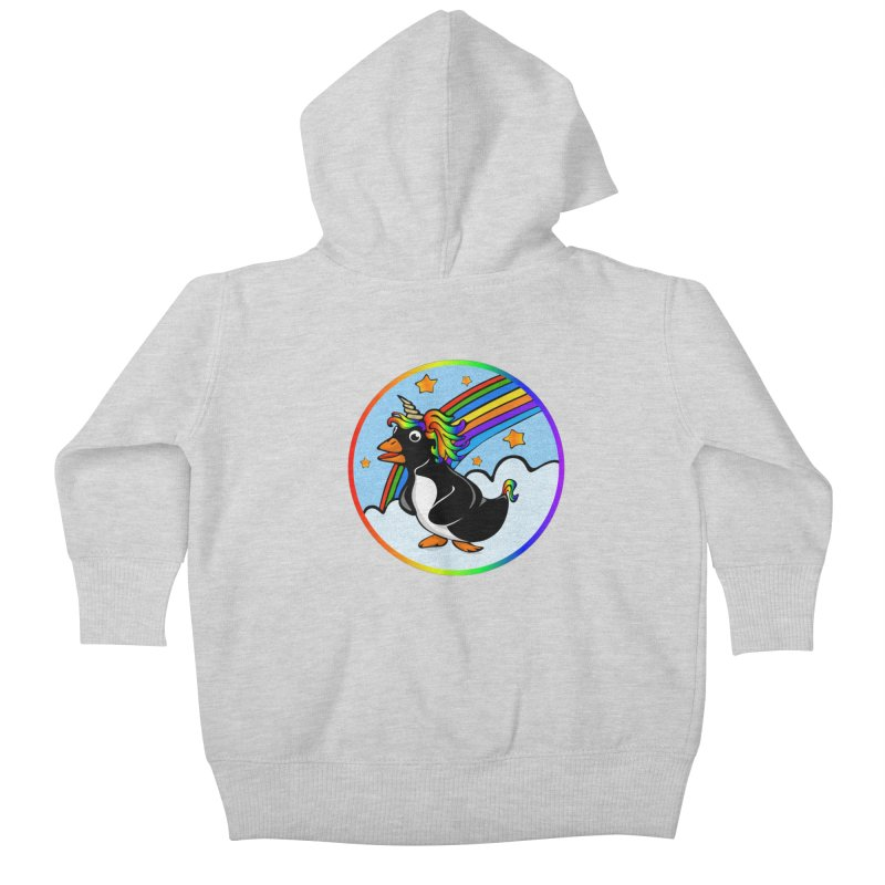 Pengicorn Kids Baby Zip-Up Hoody by elledeegee's Artist Shop