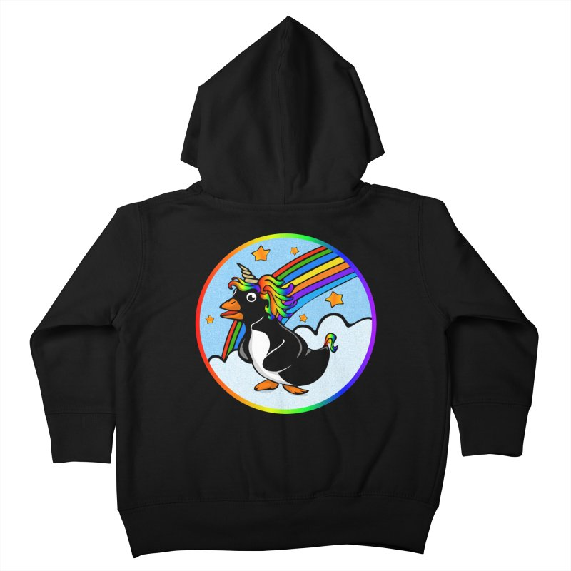 Pengicorn Kids Toddler Zip-Up Hoody by elledeegee's Artist Shop