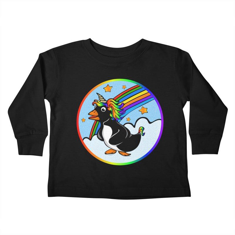 Pengicorn Kids Toddler Longsleeve T-Shirt by elledeegee's Artist Shop