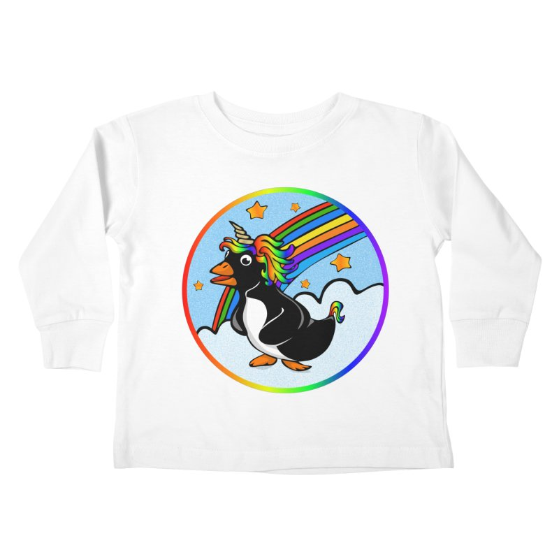 Pengicorn Kids Toddler Longsleeve T-Shirt by elledeegee's Artist Shop