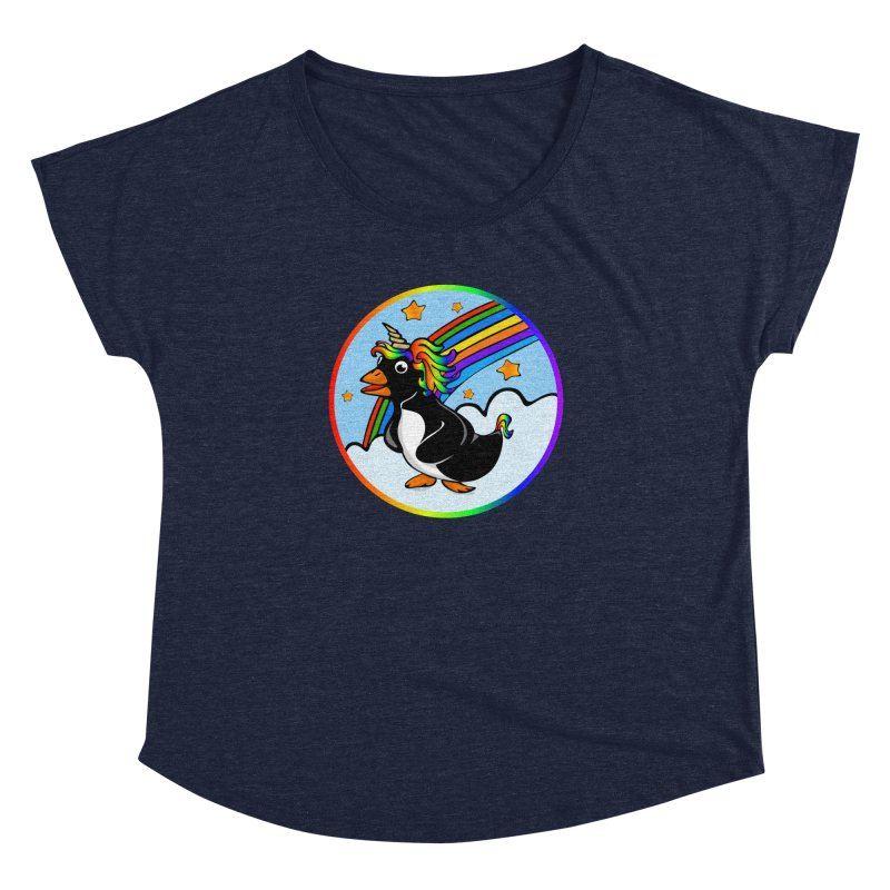 Pengicorn Women's Dolman Scoop Neck by elledeegee's Artist Shop
