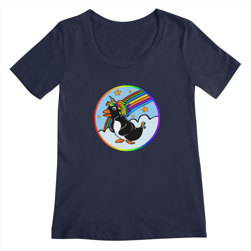 Pengicorn Women's Regular Scoop Neck by elledeegee's Artist Shop