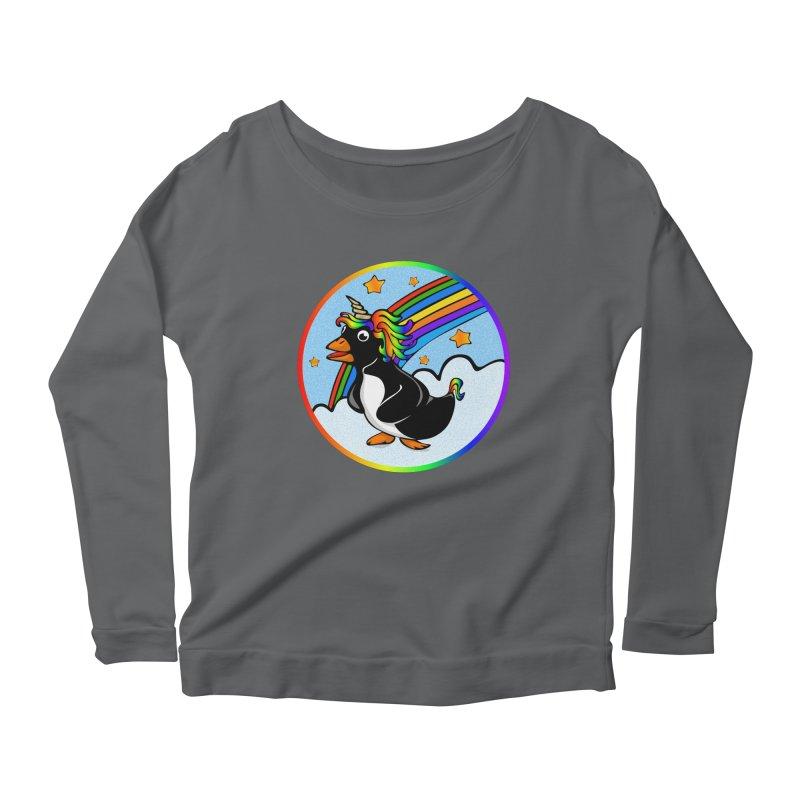 Pengicorn Women's Scoop Neck Longsleeve T-Shirt by elledeegee's Artist Shop
