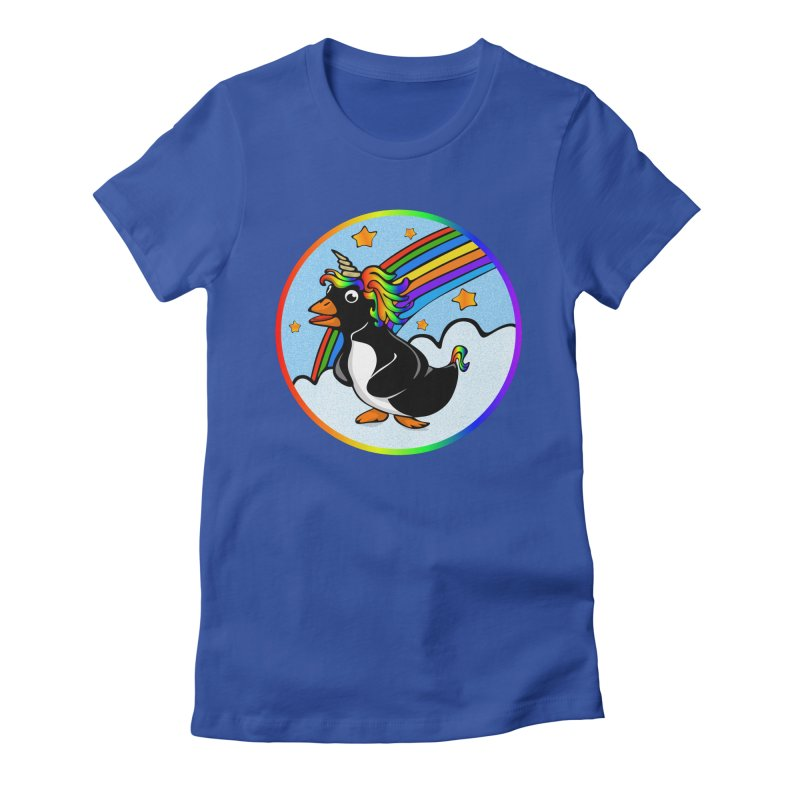 Pengicorn Women's Fitted T-Shirt by elledeegee's Artist Shop