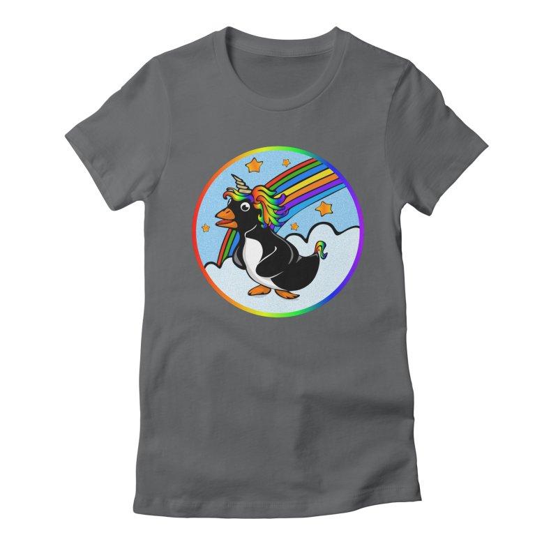 Pengicorn Women's Fitted T-Shirt by elledeegee's Artist Shop