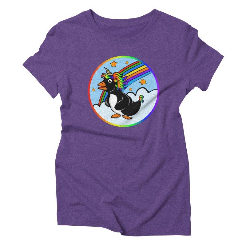 Pengicorn Women's Triblend T-Shirt by elledeegee's Artist Shop