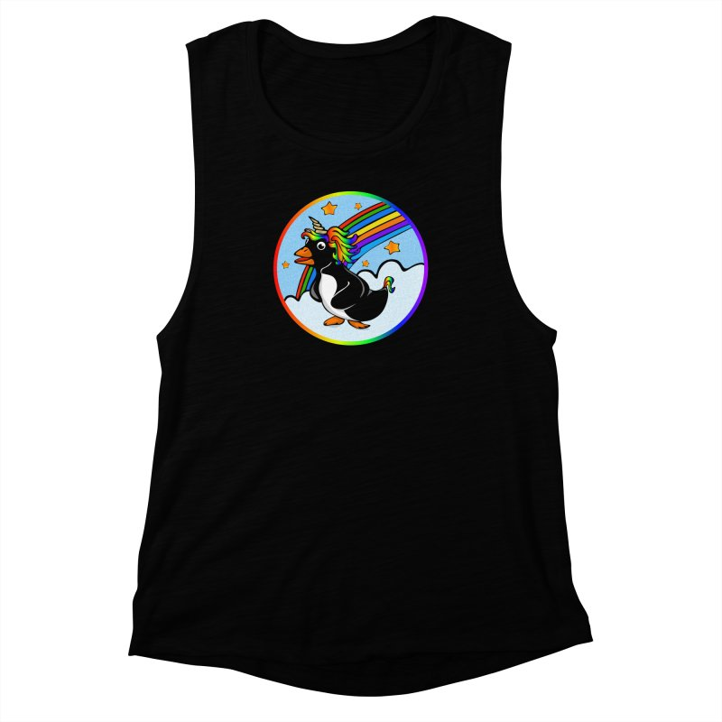 Pengicorn Women's Muscle Tank by elledeegee's Artist Shop