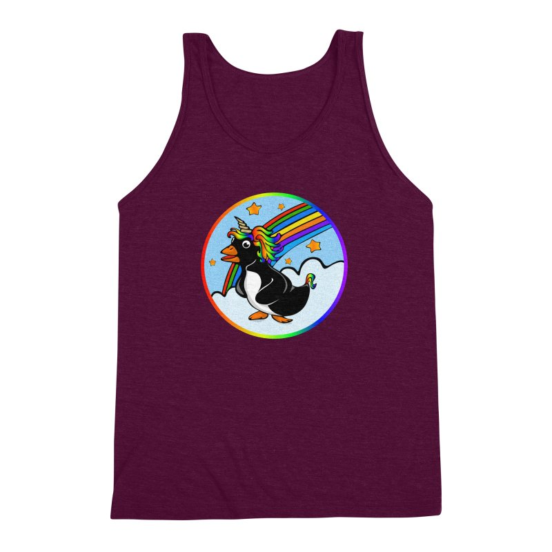 Pengicorn Men's Triblend Tank by elledeegee's Artist Shop