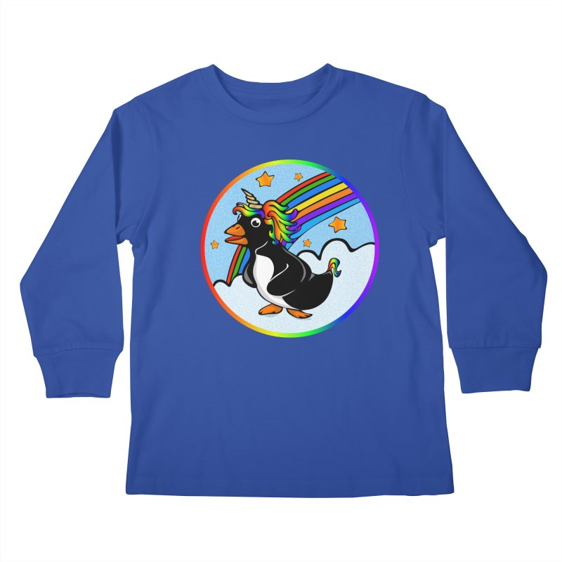 Pengicorn Kids Longsleeve T-Shirt by elledeegee's Artist Shop