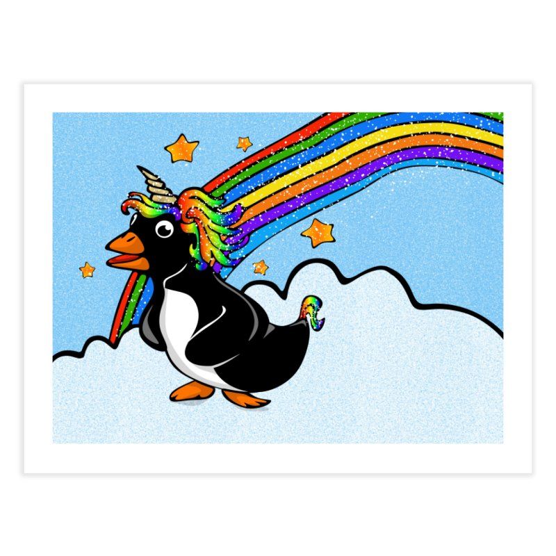 Pengicorn Home Fine Art Print by elledeegee's Artist Shop