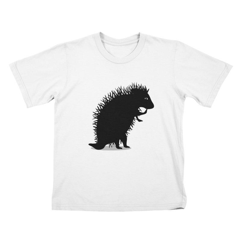 Hedgehog Silhouette Kids Toddler T-Shirt by elledeegee's Artist Shop
