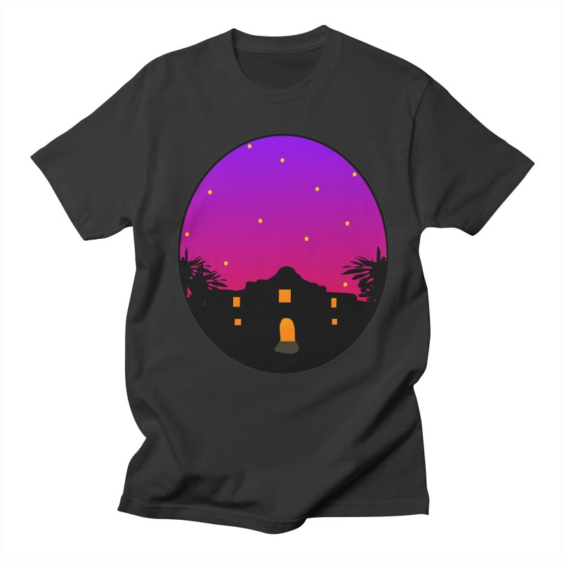 Night at the Alamo in Men's Regular T-Shirt Smoke by elledeegee's Artist Shop