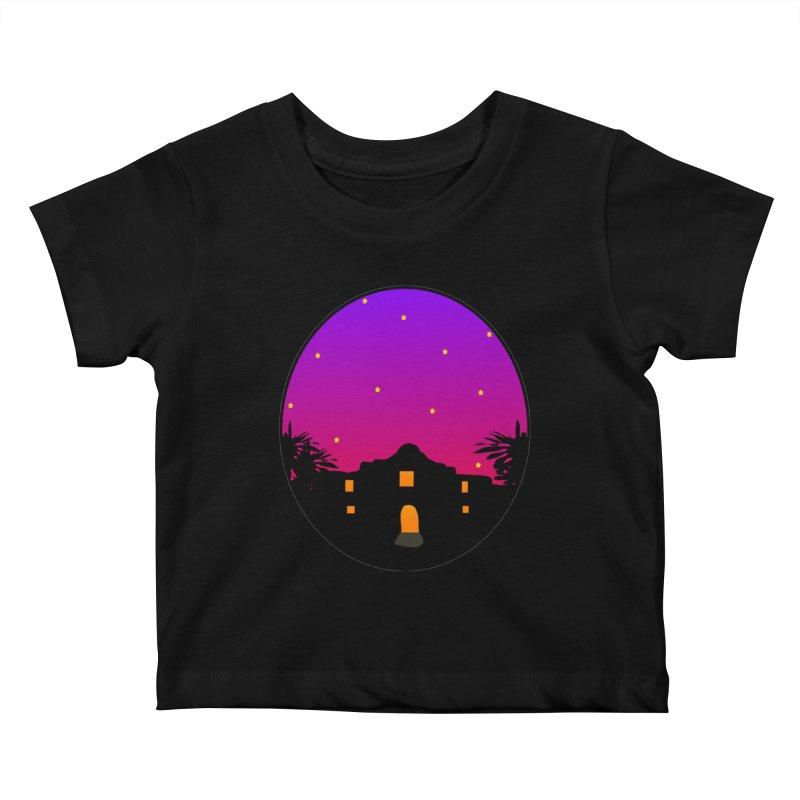 Night at the Alamo Kids Baby T-Shirt by elledeegee's Artist Shop