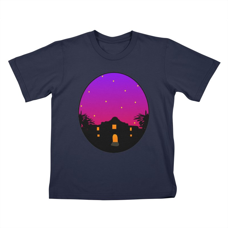 Night at the Alamo Kids T-Shirt by elledeegee's Artist Shop