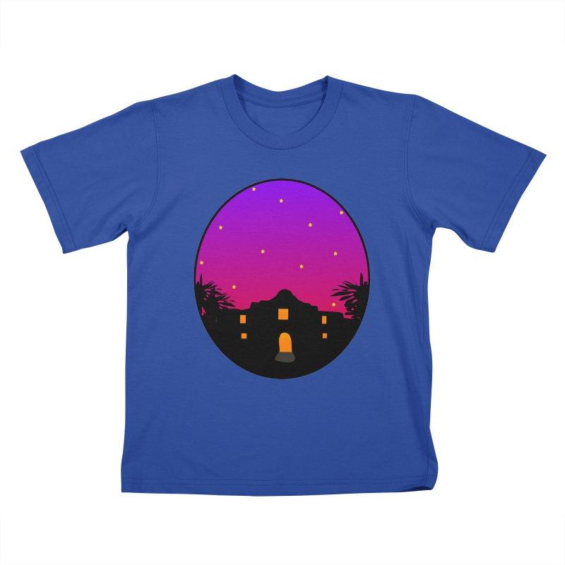 Night at the Alamo Kids T-Shirt by elledeegee's Artist Shop