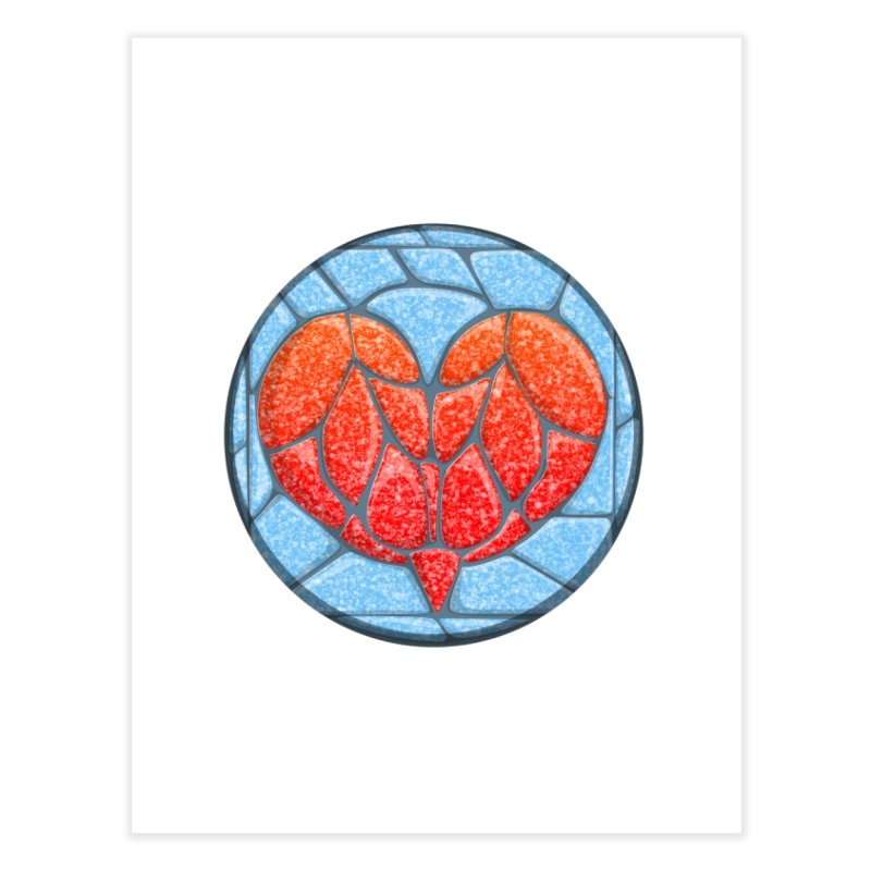 Stone Heart Home Fine Art Print by elledeegee's Artist Shop