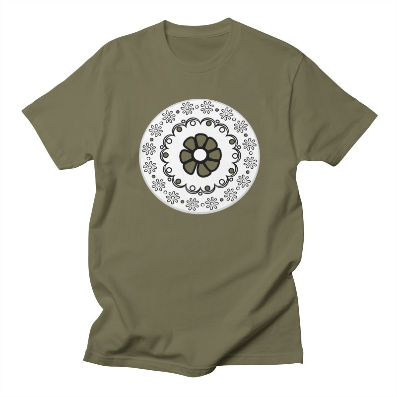 Daisies all in a row Men's Regular T-Shirt by elledeegee's Artist Shop