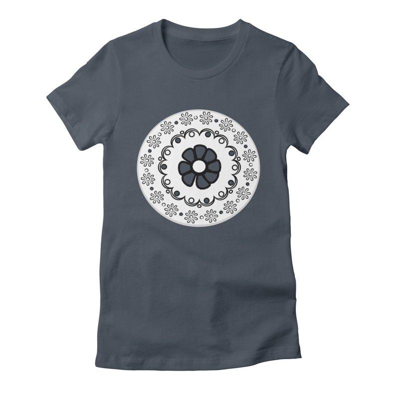 Daisies all in a row Women's T-Shirt by elledeegee's Artist Shop
