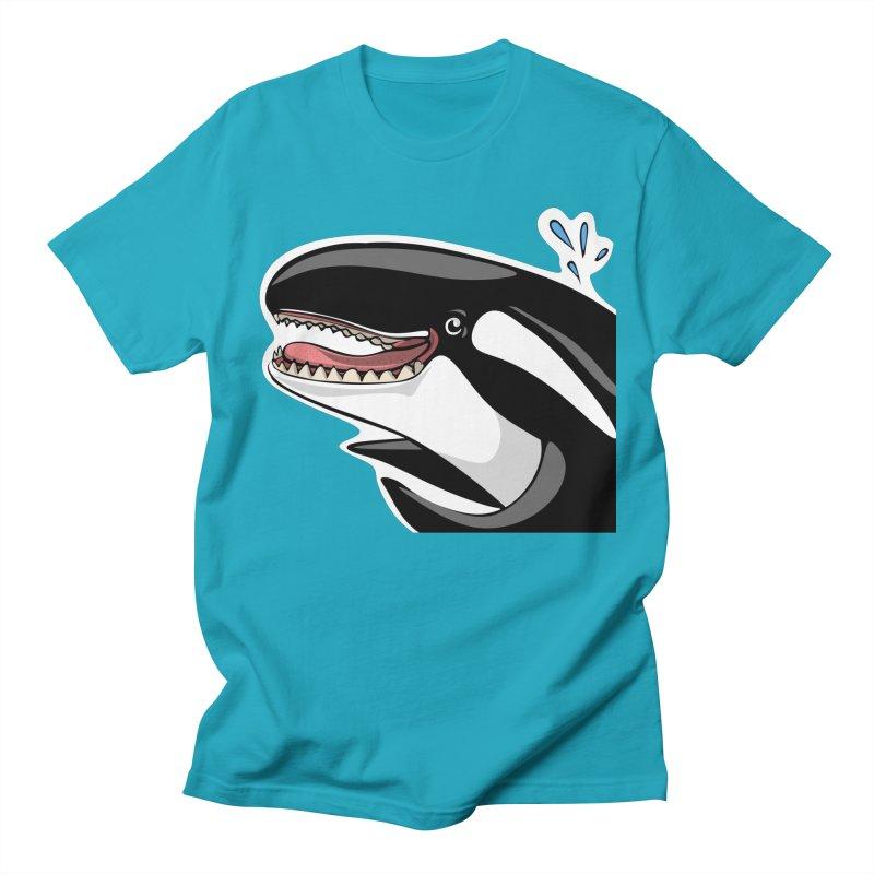 Happy Killer Whale Men's T-Shirt by elledeegee's Artist Shop