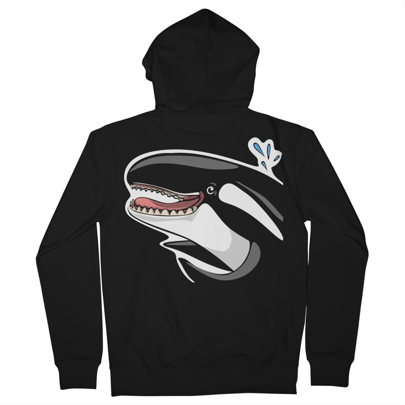 Happy Killer Whale Men's Zip-Up Hoody by elledeegee's Artist Shop